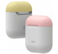 Чехол Elago Silicone DUO (EAPDO-WH-PKYE) для AirPods (White/Pink/Yellow)
