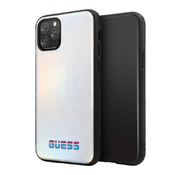 ехол Guess Iridescent Hard PU кожа для iPhone 11 Pro Max, серебристый