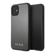 Чехол Guess Iridescent Hard PU кожа для iPhone 11, черный
