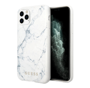 Чехол Guess Marble Design Hard для iPhone 11 Pro, белый