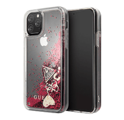 Чехол Guess Glitter Hearts Hard для iPhone 11 Pro, Raspberry