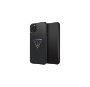 Чехол Guess Iridescent Glitter Triangle logo Hard Multicolor для iPhone 11 Pro Max, черный