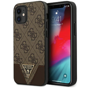 Чехол для iPhone 12 mini CG Mobile Guess PU 4G Triangle metal logo Hard