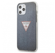 Guess для iPhone 12 Pro Max (6.7) чехол PC/TPU Denim Triangle logo Dark