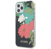 Чехол для iPhone 12 Pro Max CG Mobile Guess PC/TPU Flower Hard Shiny N.1