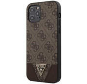 Чехол для iPhone 12 Pro Max CG Mobile Guess PU 4G Triangle metal logo Hard