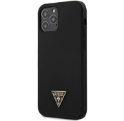 Чехол для iPhone 12/12 Pro CG Mobile Guess Liquid Silicone Triangle metal logo Hard